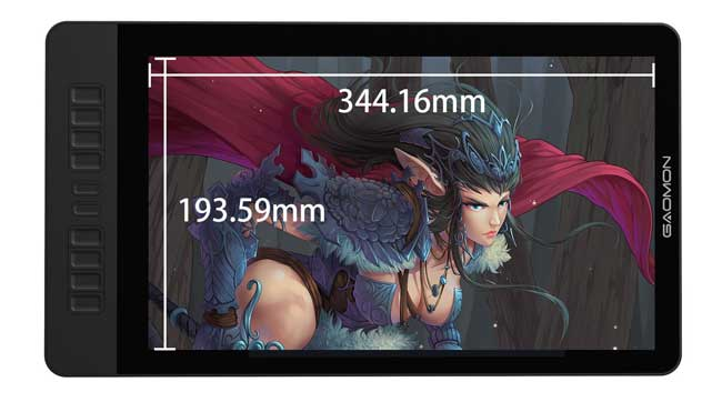 GAOMON PD1560 screen size